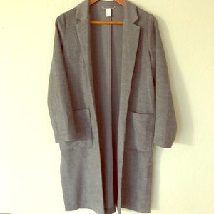 Grey Wool Trench